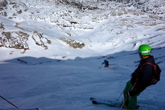 ... very steep, but also deep powder :)