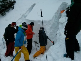 Snowpack stability test