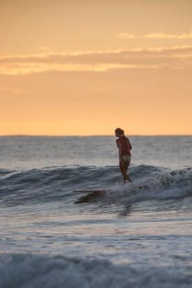 surf girl longboard